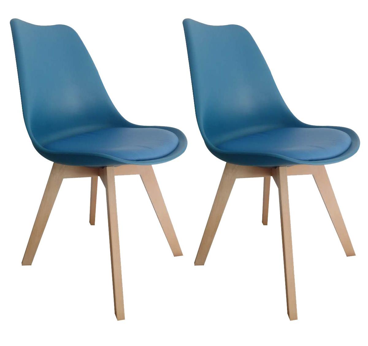 chaise bistrot bleu scandinave