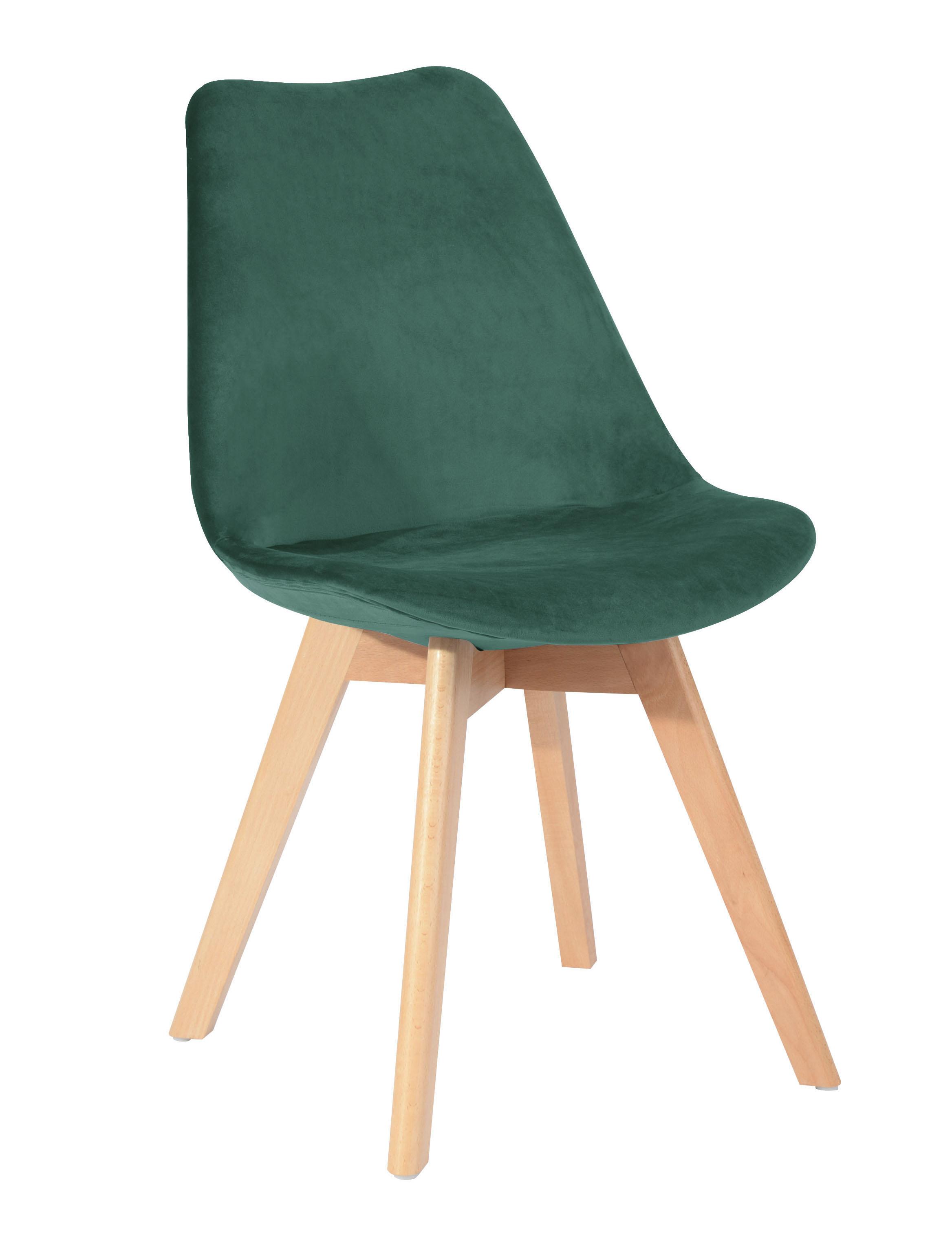 vert velours 49x53xH84cm STOCKHOLM Chaise en scandinave émeraude 3ARL54jq