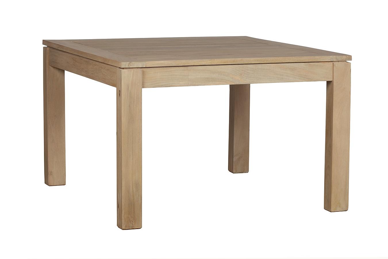 Table A Manger Carree Extensible.Table De Repas Carree Extensible En Manguier 120 200x120x78cm Boreal Clair