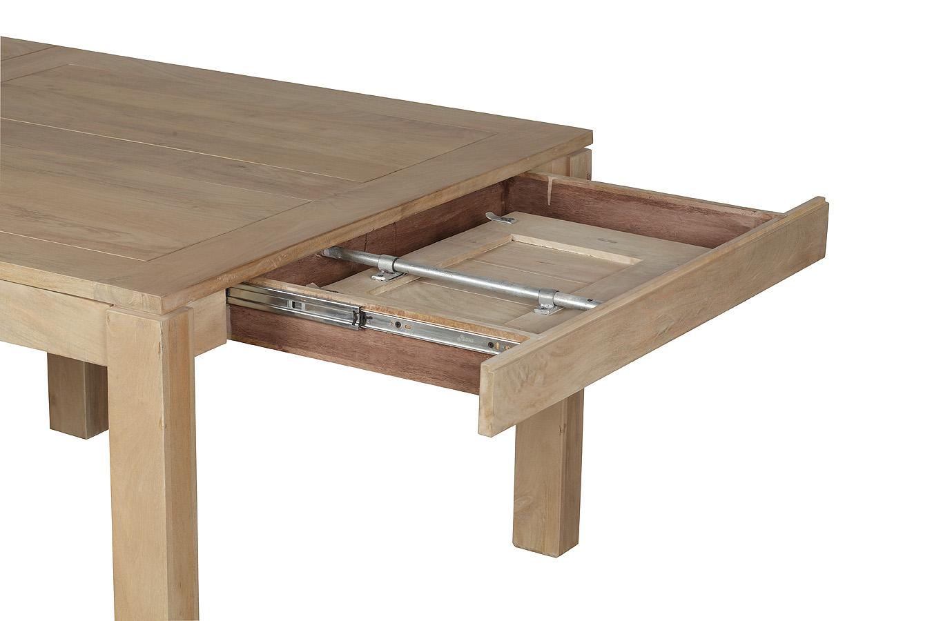 Repas Extensible 120200x120x78cm Manguier De Carrée Boreal Table En MSVGqzUp