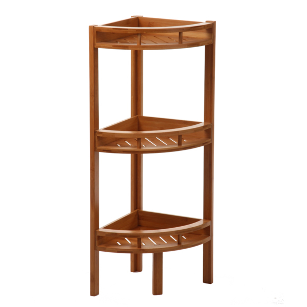 Etagère d\'angle salle de bains bambou réf. 20014736