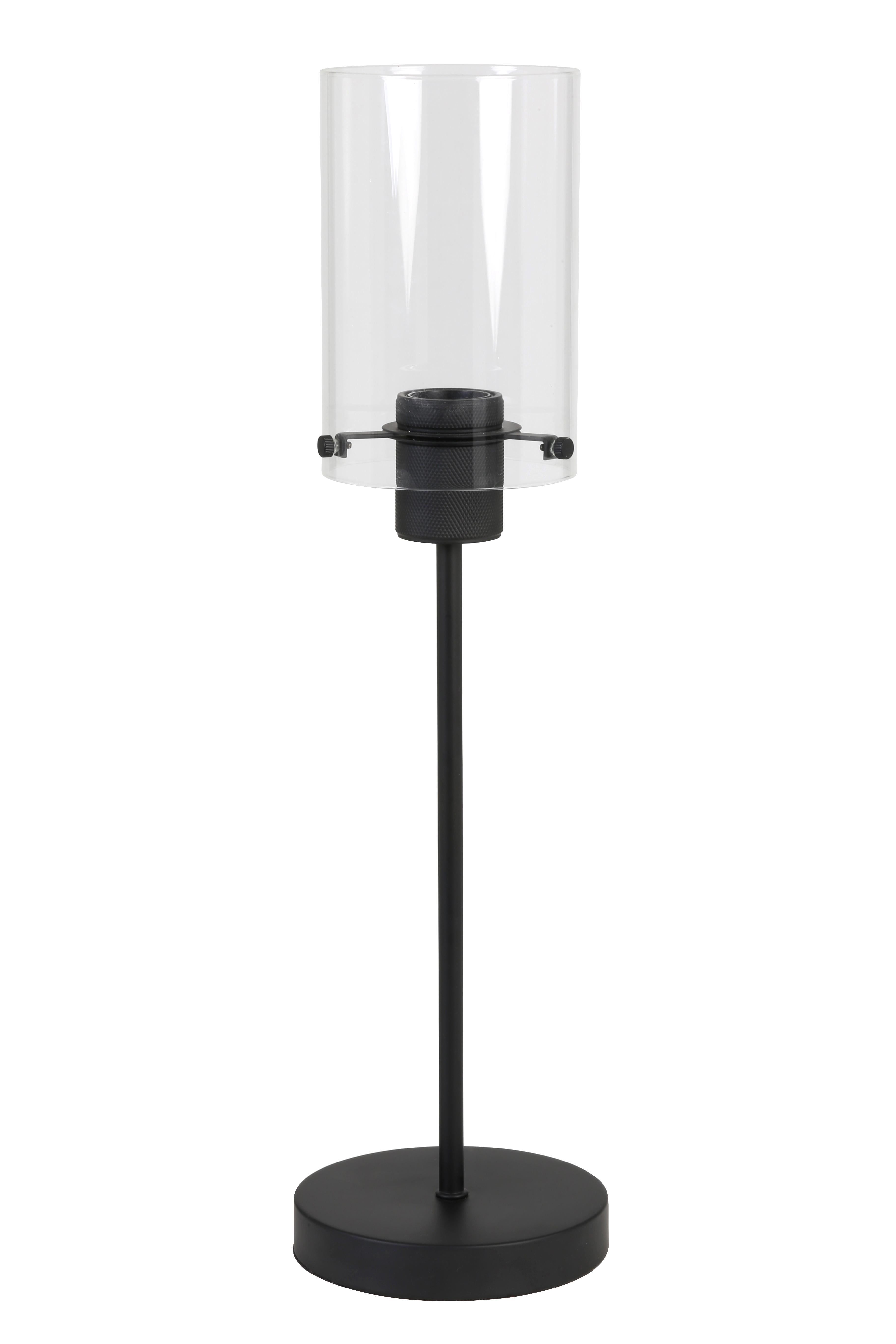 Métal À Mat Verre Contemporaine Noir Poser Lampe 4jqA5R3L