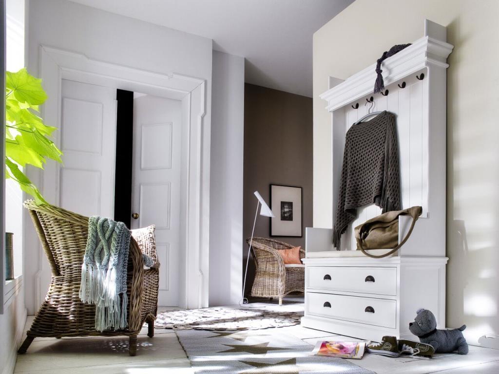 Plan De Meuble A Chaussures meuble à chaussures - porte manteau bois blanc 2 tiroirs acajou 100x190cm  royan