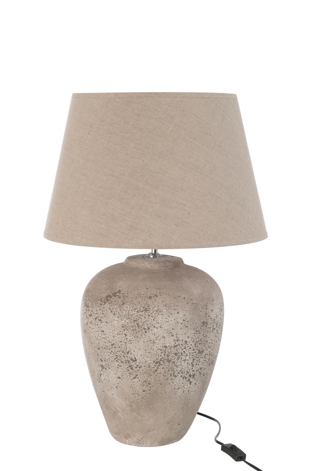 À Cuite D32 H51cm Lampe PoserTerre Grise H9E2WDIY
