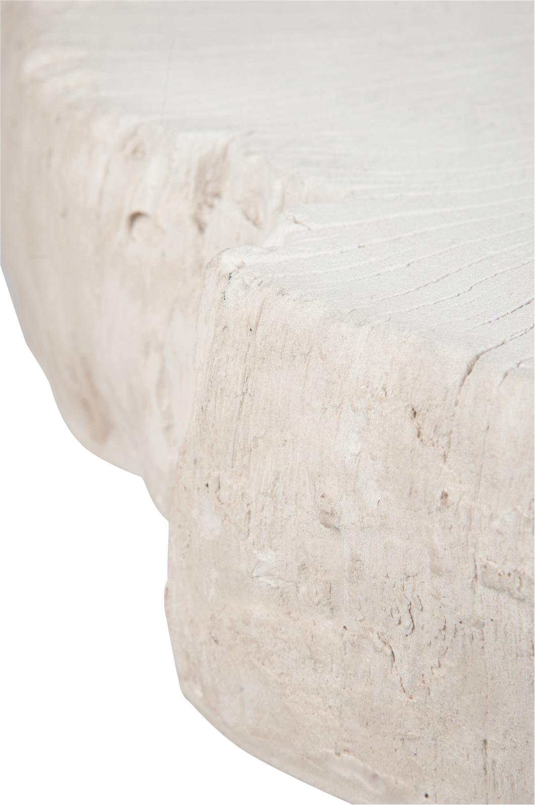 Résine Table Basse Blanche117x107x43cm En OwPkn0