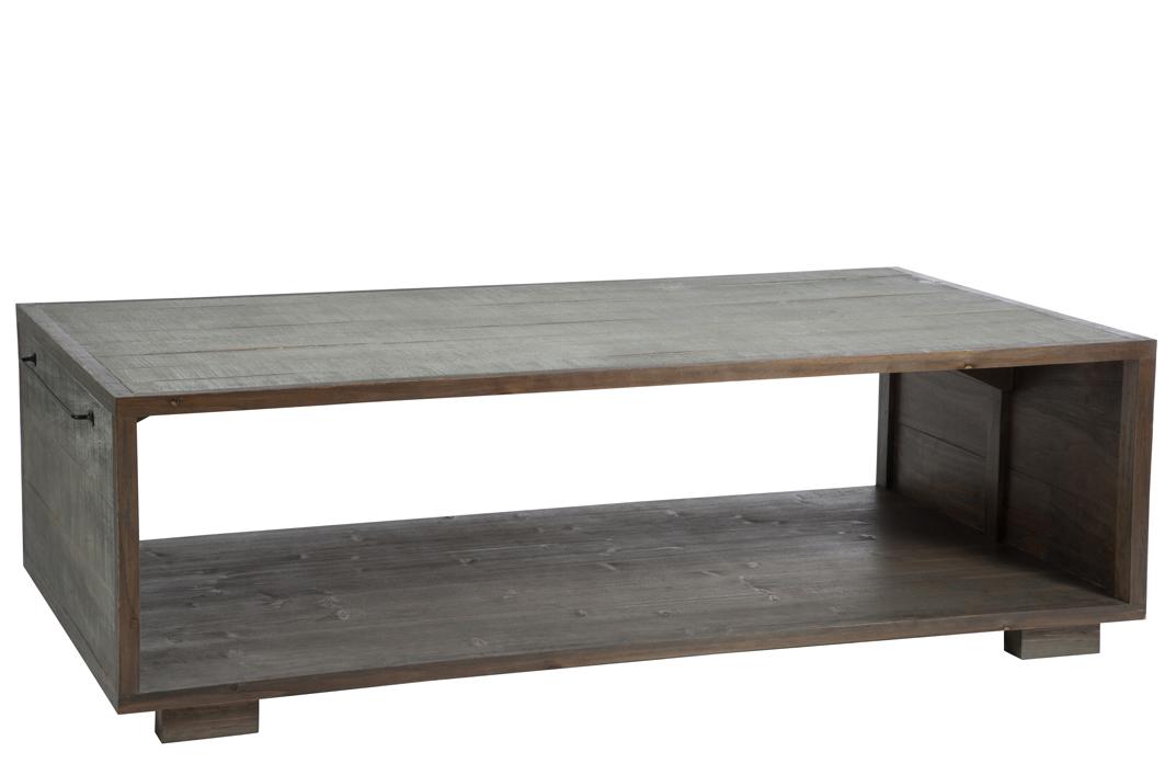 Porte Revue Basse Avec Gris Table En Pin 145x80x35cm Forest T1lFKJc