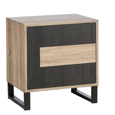 Table De Chevet En Bois Noir 1 Porte 1 Tiroir Tables De Chevet