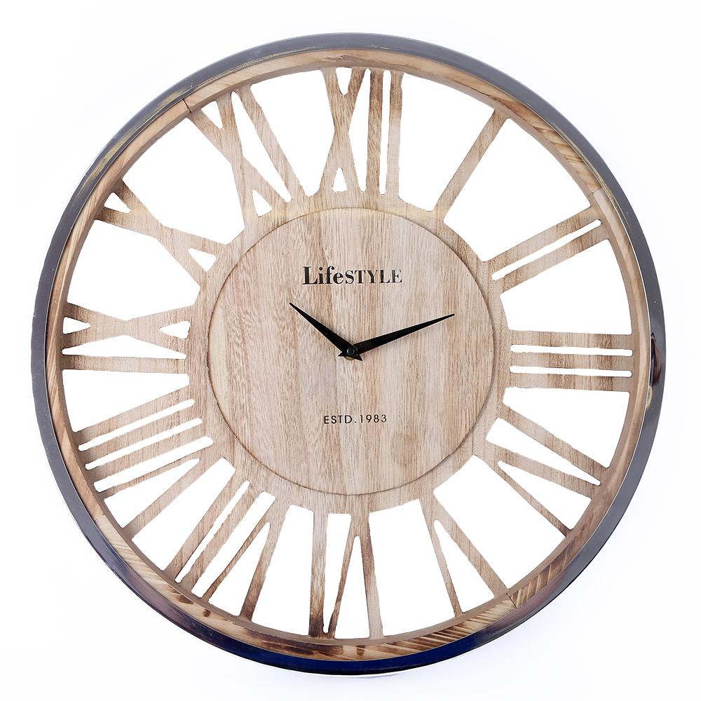 Effet Bois Horloge Ajourée 48 Cm D GSUVLzMpjq