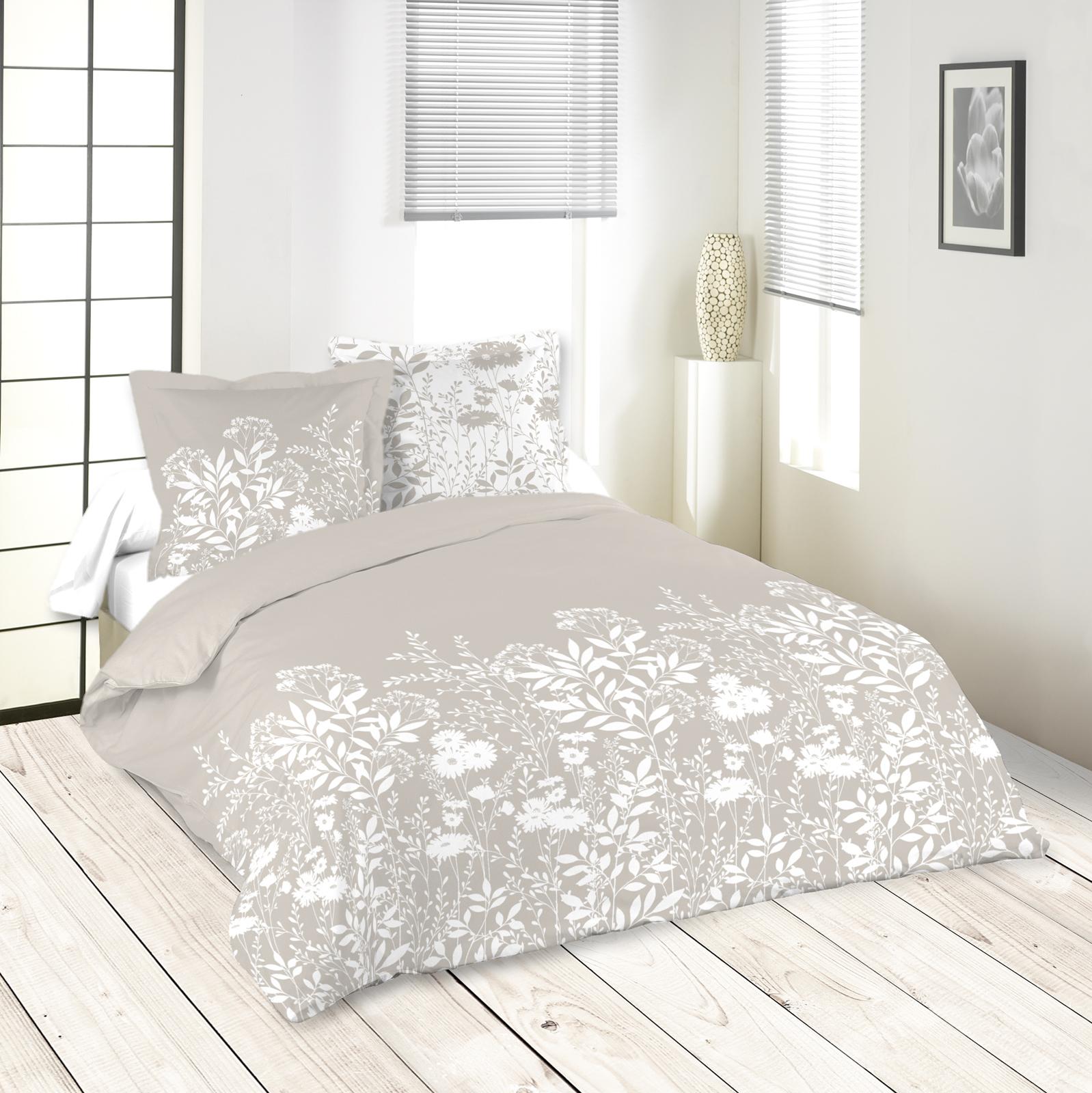 Parure de lit motifs fleurs 240x220cm housse de couette Housse de couette motif
