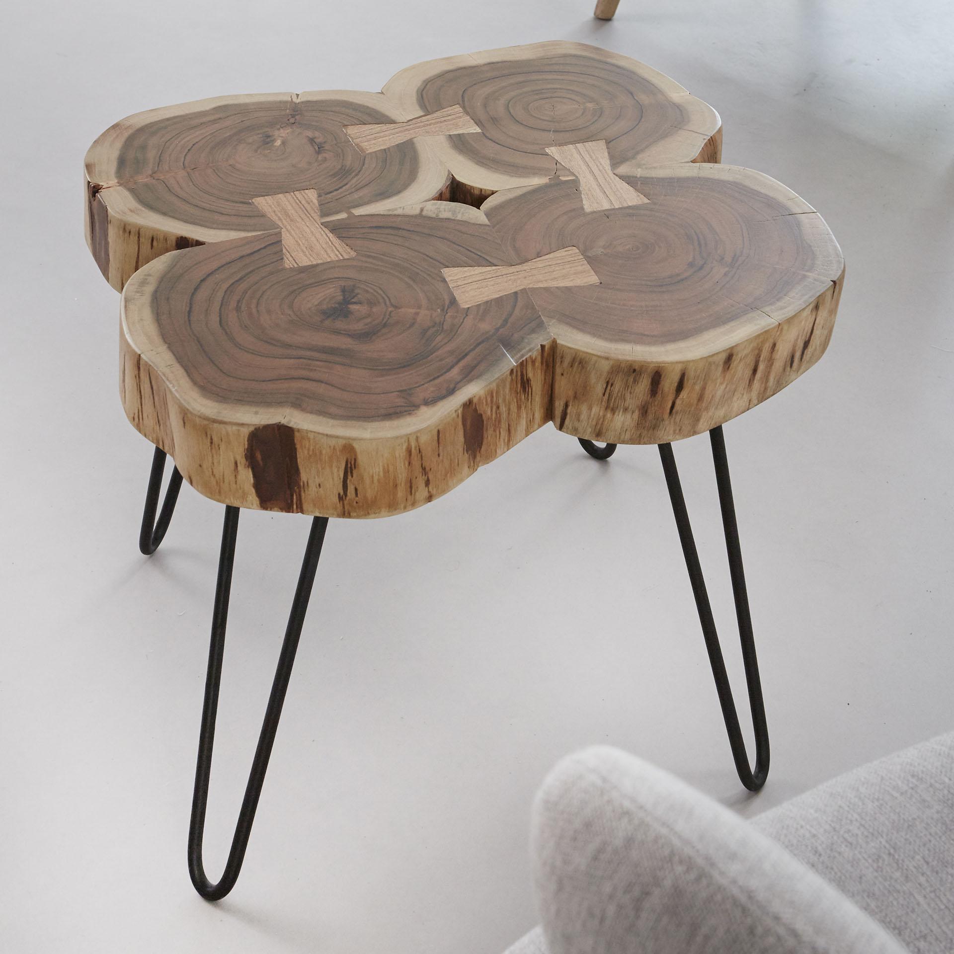 Table Basse Tronc D Arbre Acacia Canada