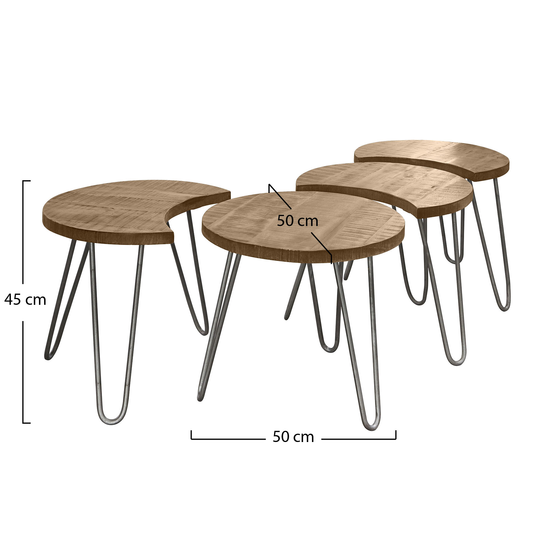 Table basse modulable ronde 4 pi ces lucknow tables Table basse modulable table haute