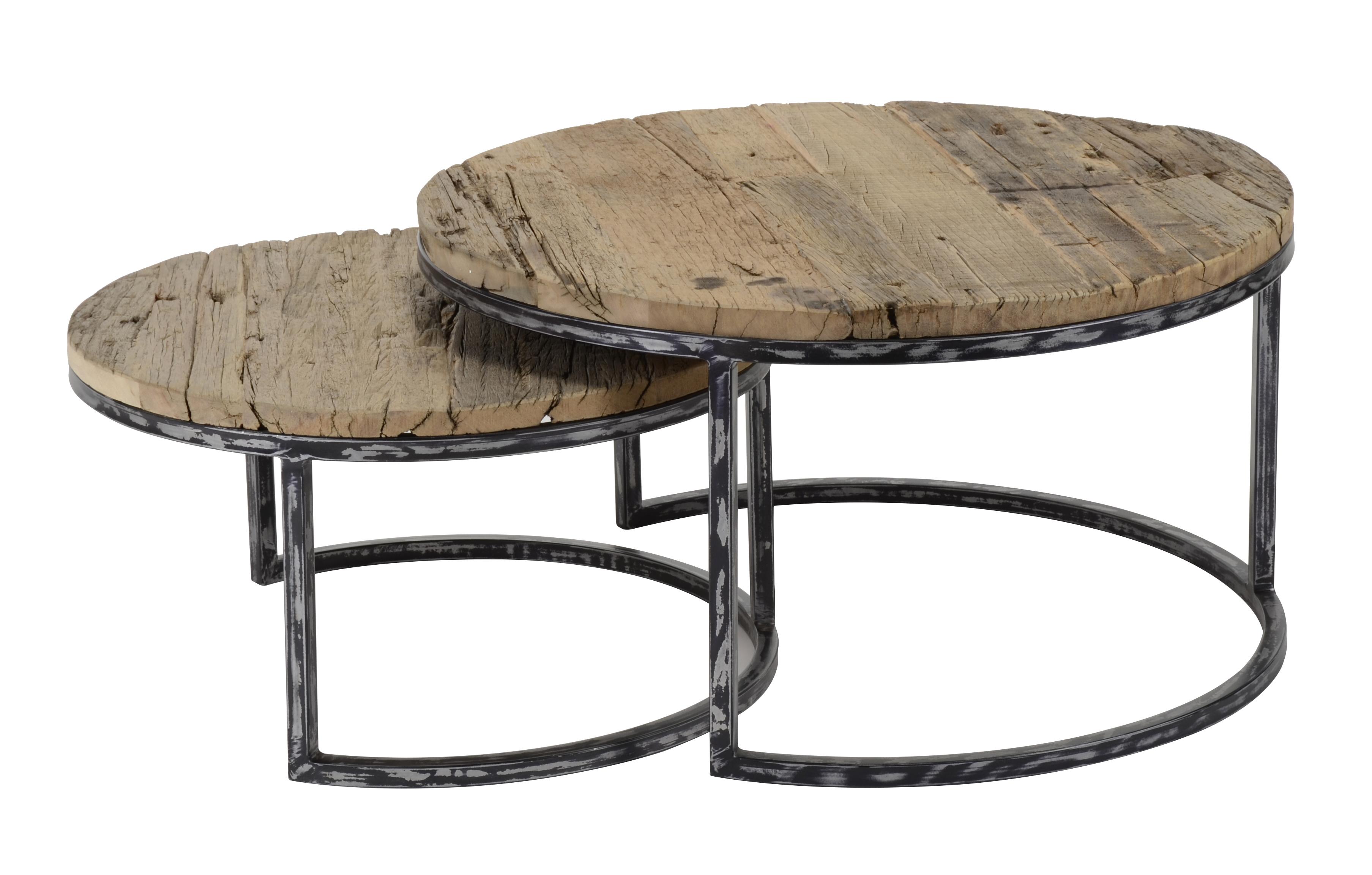 Table De Salon Gigogne Ronde 2 Pieces Omsk Tables Gigognes
