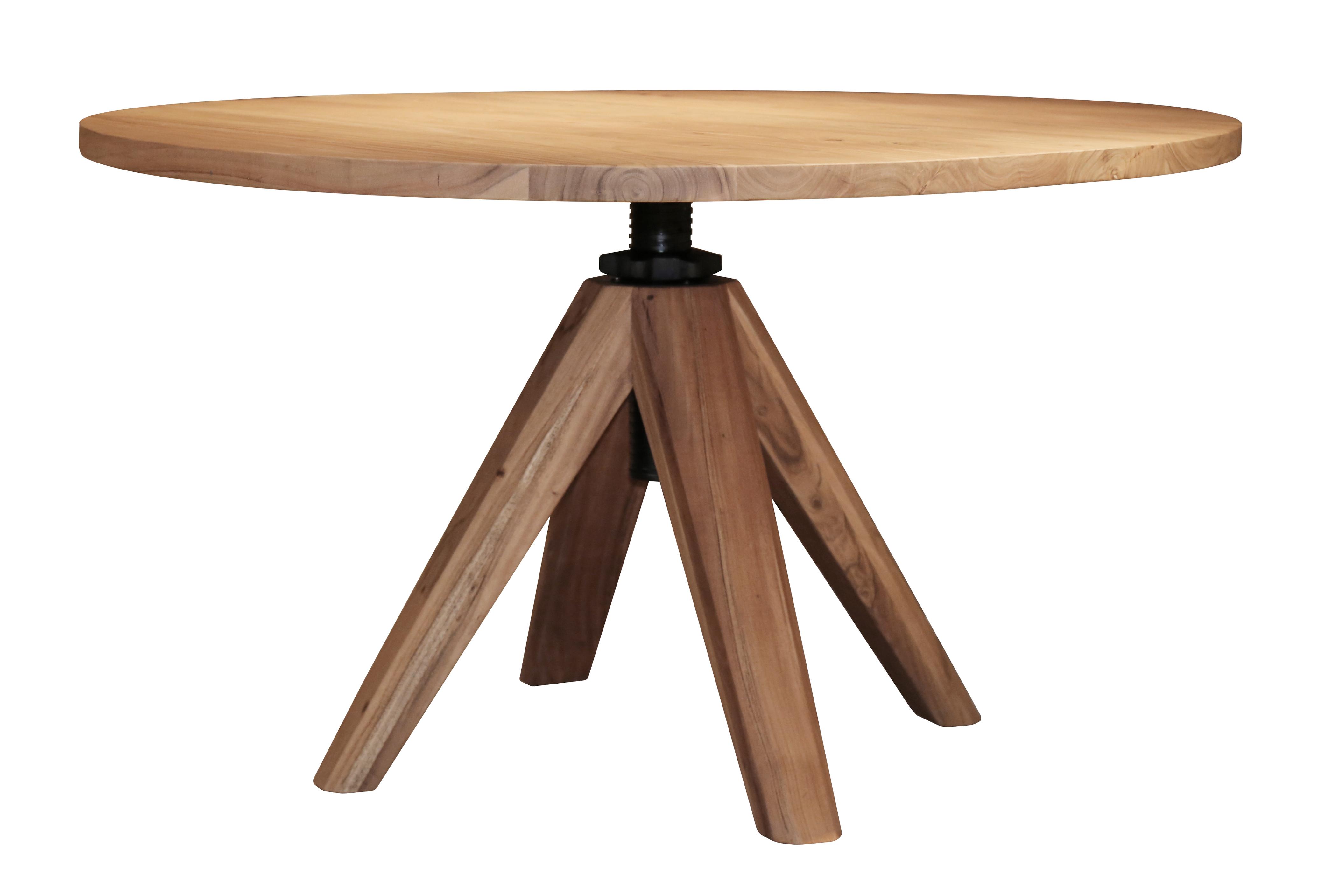 Table à manger ronde réglable en hauteur 120 cm TRIBECA