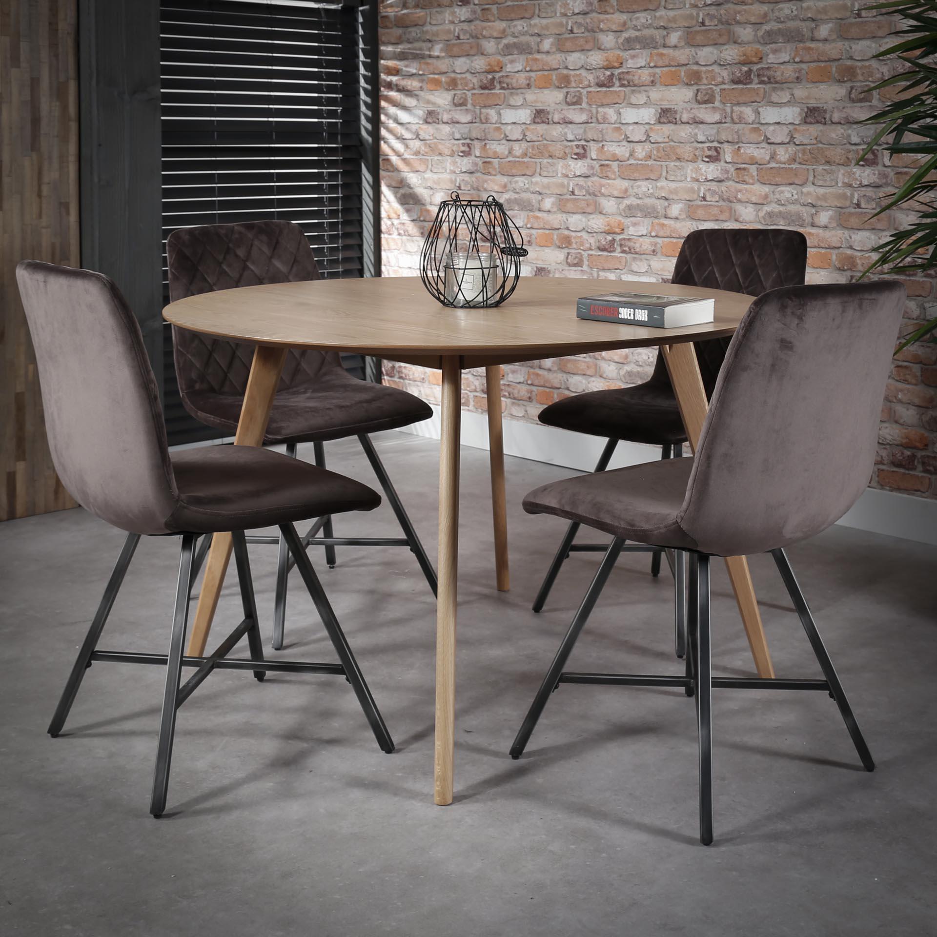 Table à manger ronde 120 cm Göteborg