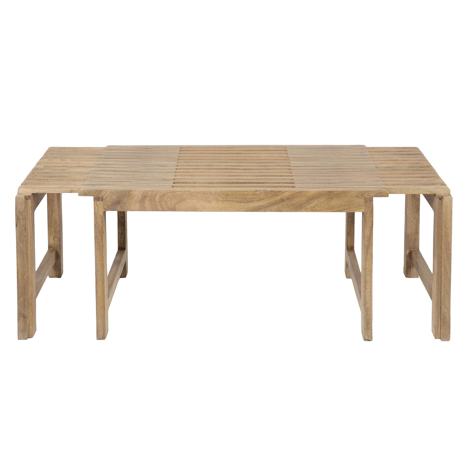 Table Basse Extensible Bois Massif De Manguier Mundra Tables