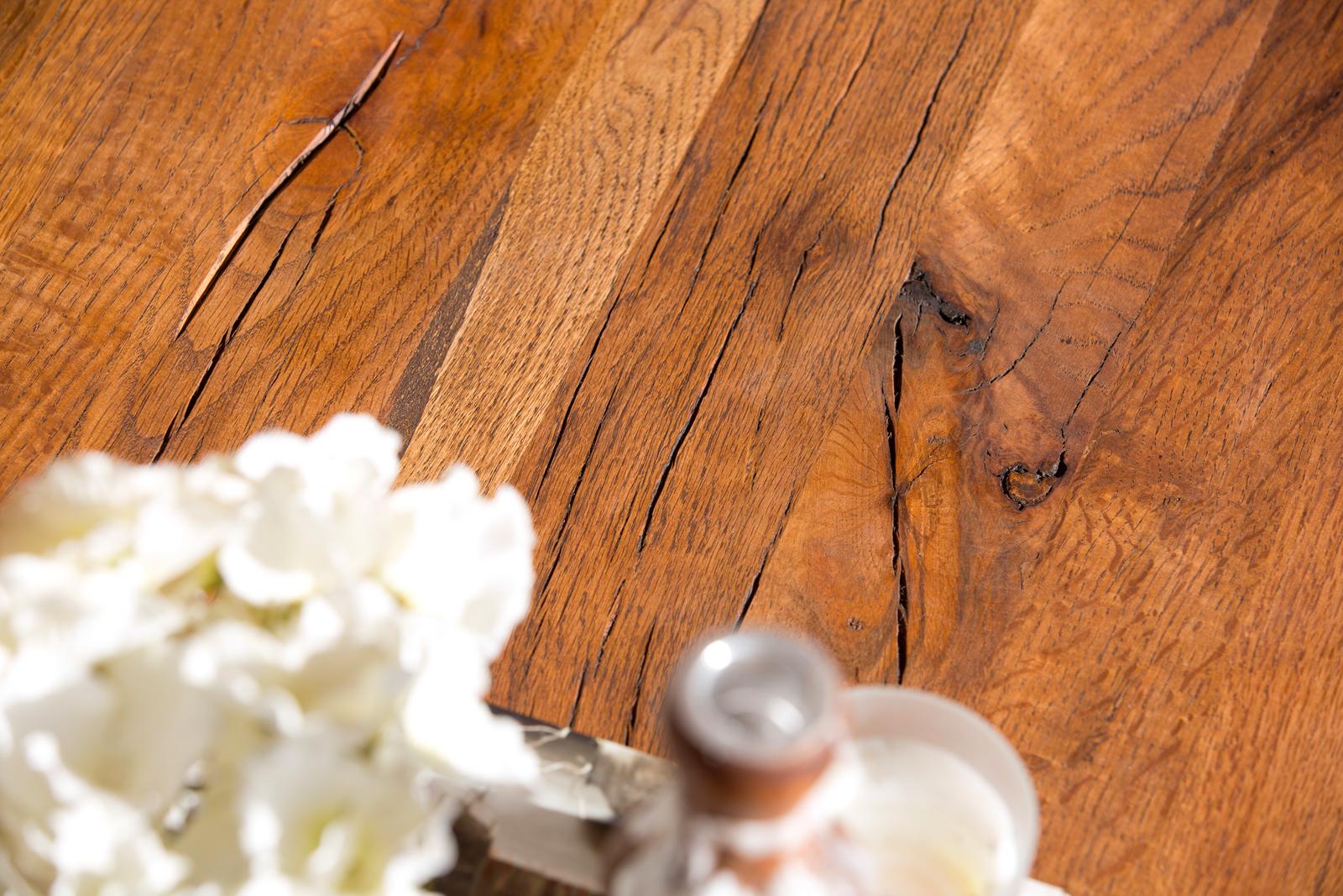 Banc de table chêne massif pieds croisés 240 cm OKA