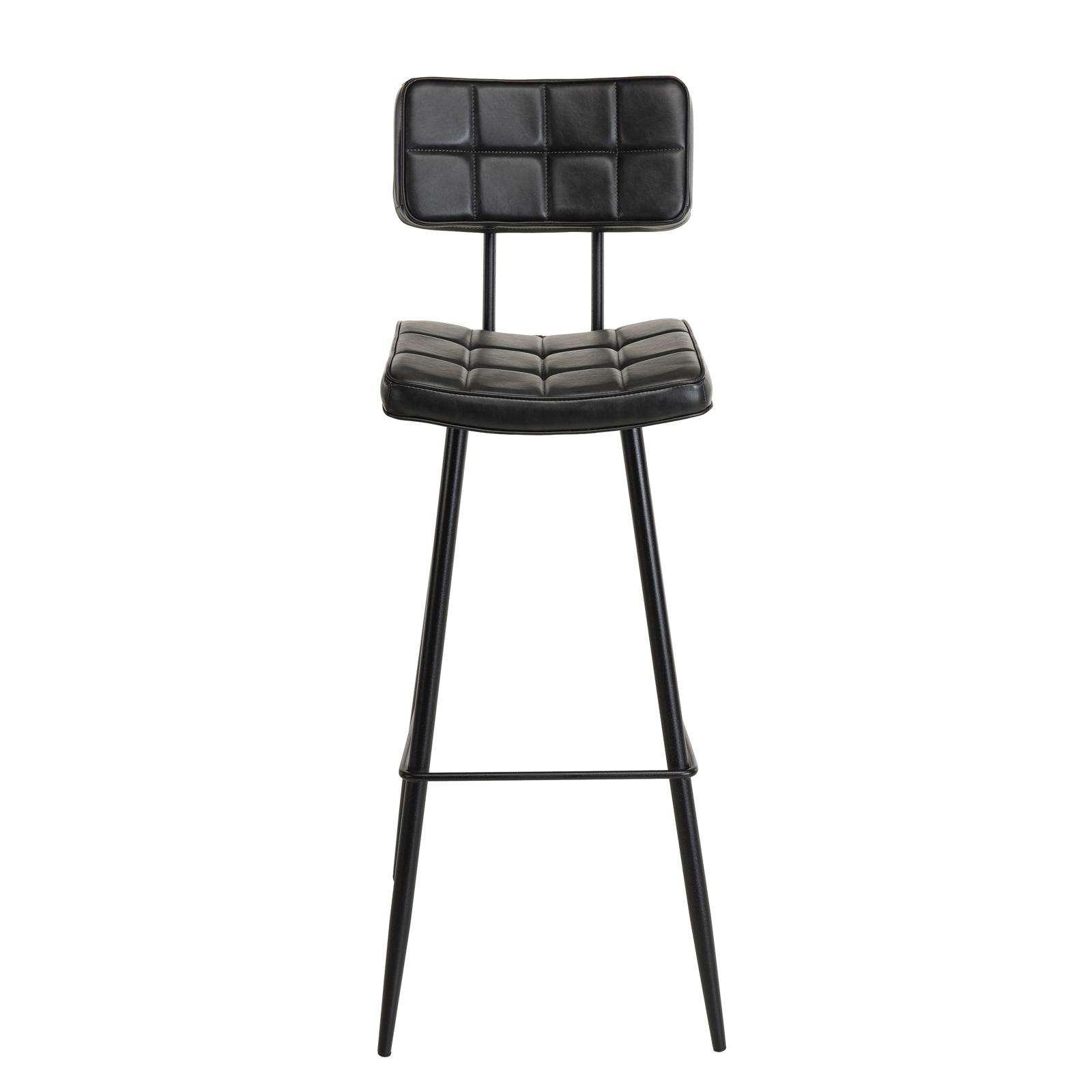 Capitonnée Haute Chaise Timlot 2 De Noire Bar OkuiXZP
