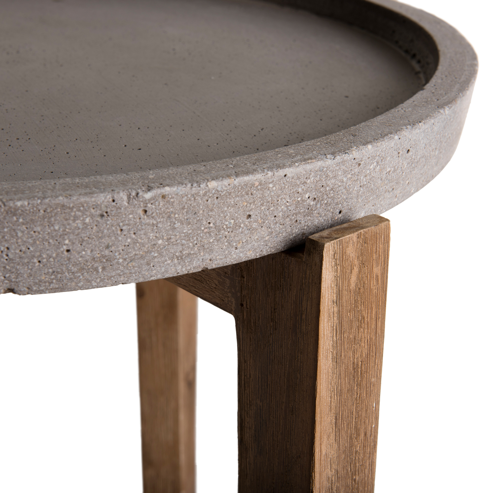 Table Basse Jardin Acacia Beton Forme Ronde Pm Summer Tables D