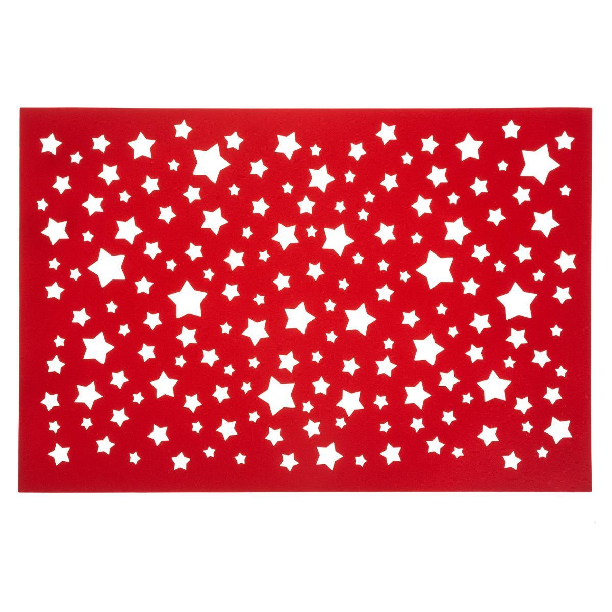 Set De Table Rouge Etoiles Ajoure Decorations De Noel Pier Import