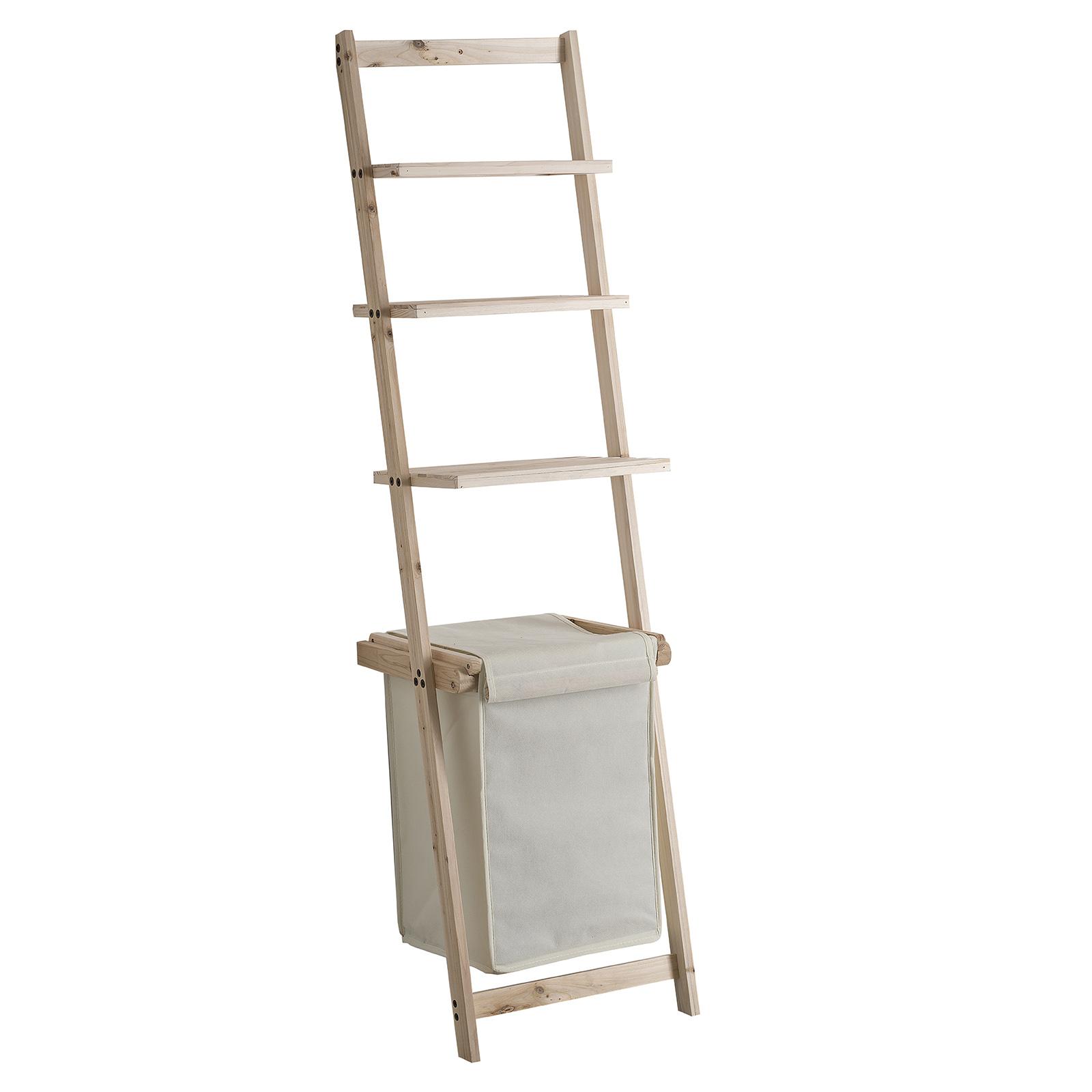 Meuble Avec Panier A Linge meuble 3 étages avec panier à linge gris intégré