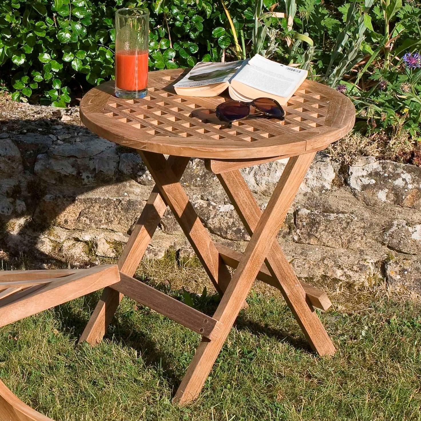 Table d'appoint pliante en bois Table basse et d'appoint