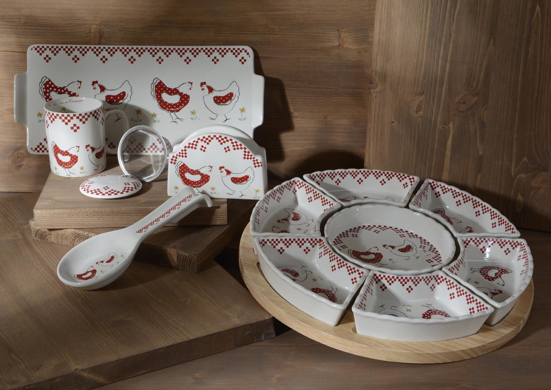 Poup/ée en Porcelaine Support en Bois rf-collection 47 cm Cr/ème//Rouge Chapeau et Ours