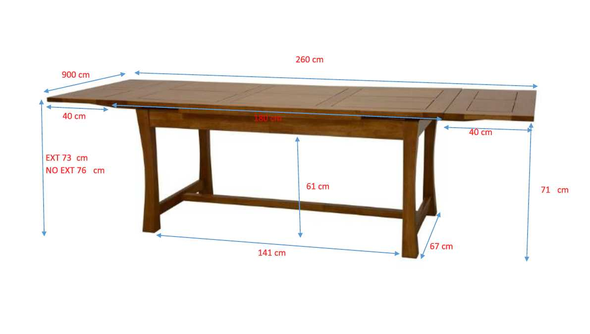 Table à manger extensible bois massif style colonial 6-6 MAORI