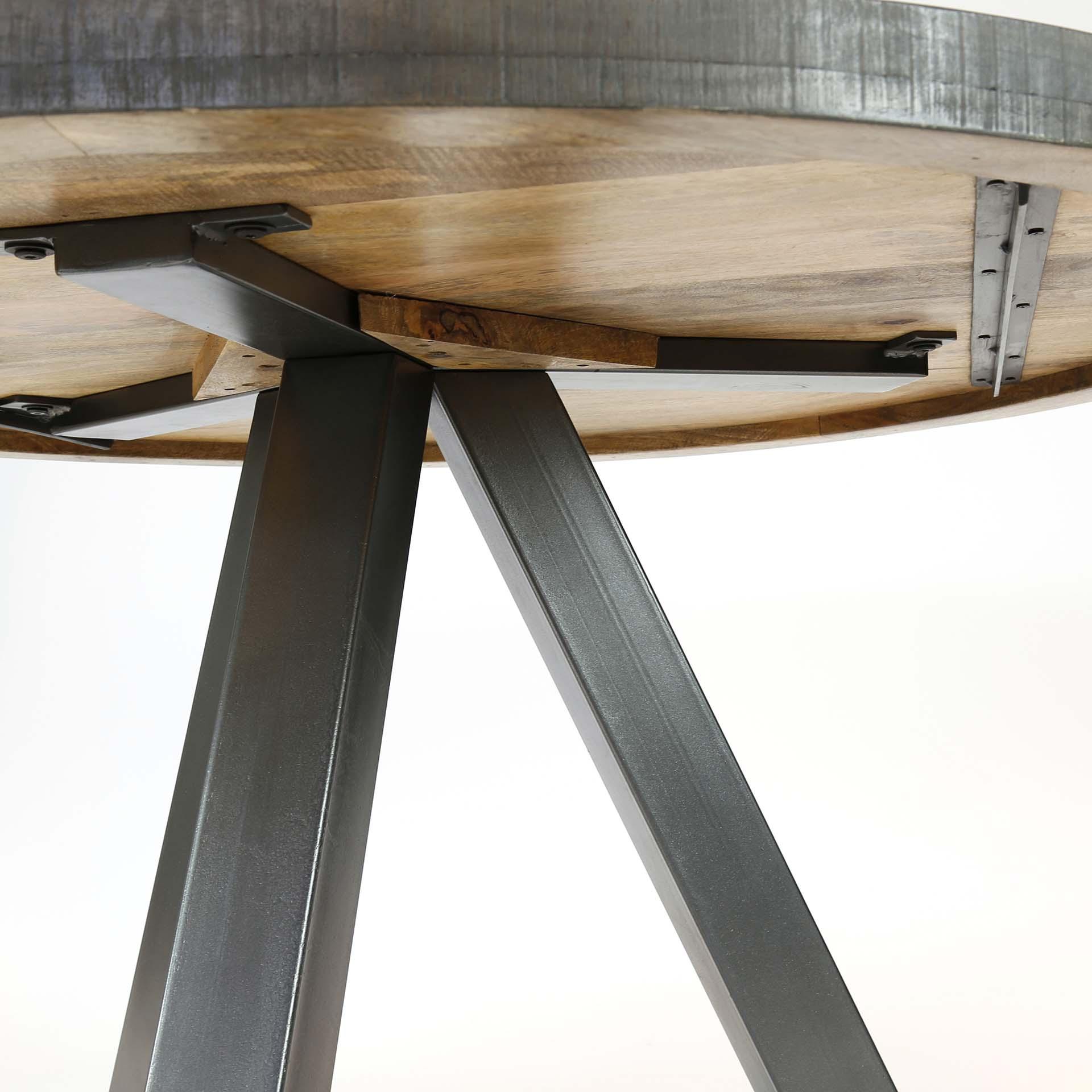 Table à manger ronde 7cm manguier LUCKNOW