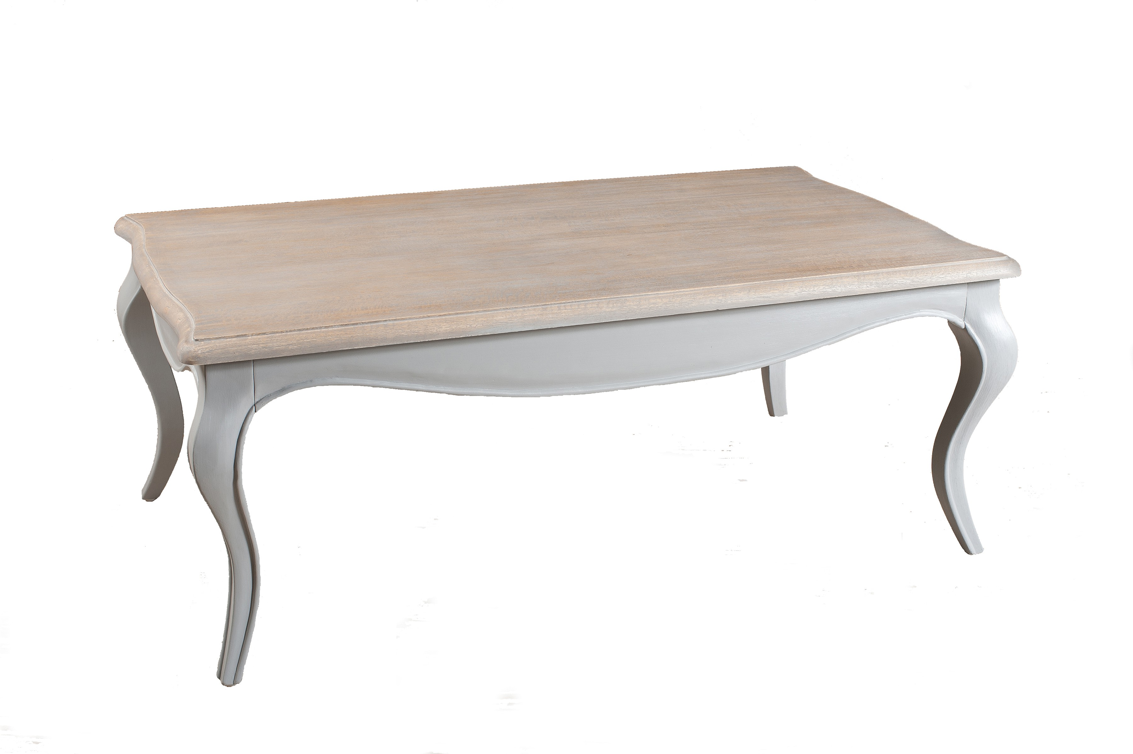 Table Basse Baroque Rectangle Gris Clair 115x65cm Odyssee Tables Basses Pier Import