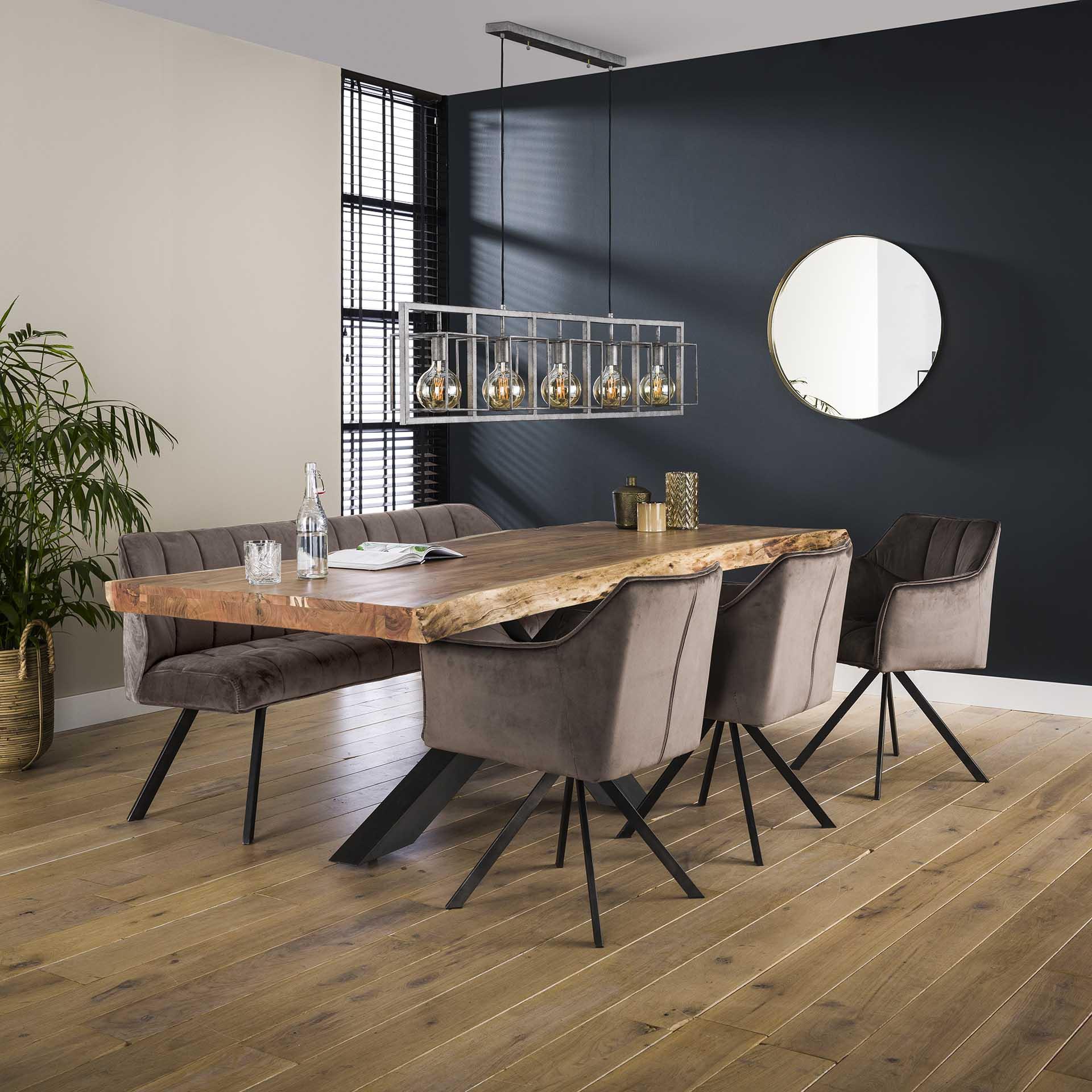 table salle a manger bois massif pied mikado 200 cm melbourne tables a manger pier import