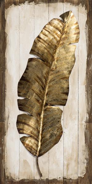 Tableau Plume Animal Tons Dorés Sur Fond Effet Planches Tons Beiges Et Marrons 50x100cm Tableaux Toiles Pier Import